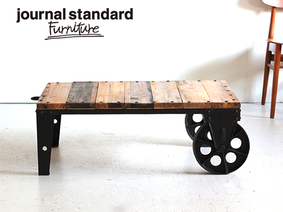 Journal standard Furniture BRUGES DOLLY TABLE(ブルージュドローリーテーブル) b114-012-001